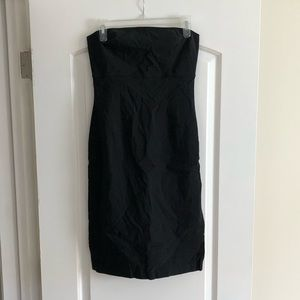 Black strapless express dress -very stretchy !